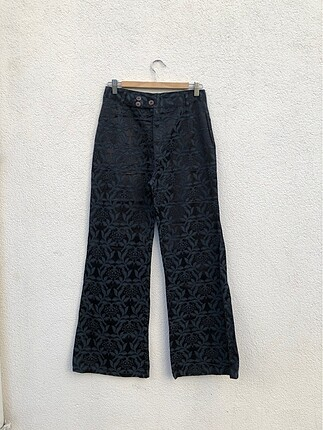 Vintage ispanyol paça pantolon