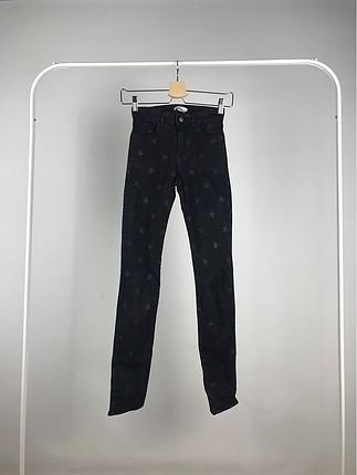 Yüksek Bel Yıldız Desenli Pantolon