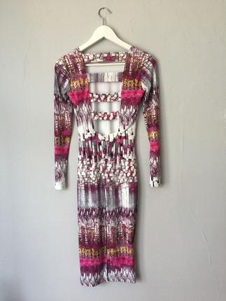 Topshop Jarse Desenli Elbise