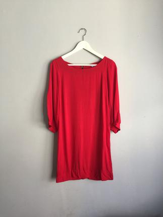Kirmizi basic elbise