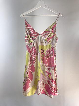 Saten elbise- Emilio Pucci marka