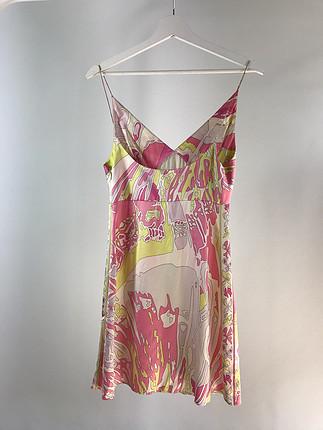 m Beden pembe Renk Saten elbise- Emilio Pucci marka