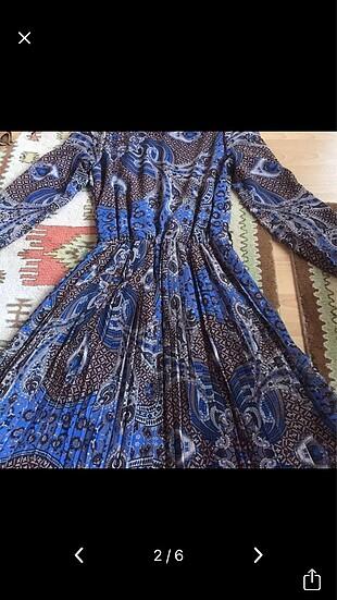 40 Beden mavi Renk Pileli elbise?