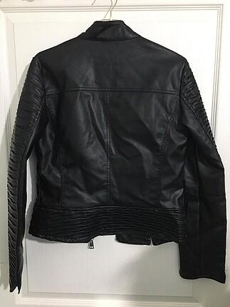Koton koton siyah deri ceket hiç kullanılmamış
