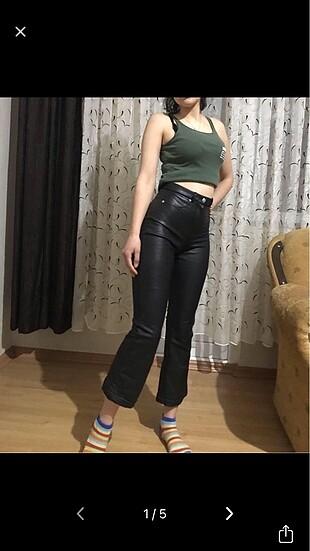 Zara model deri pantolon