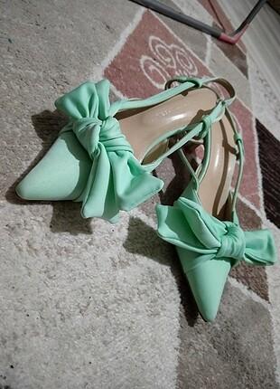 Su yeşili günlük ayakkabı