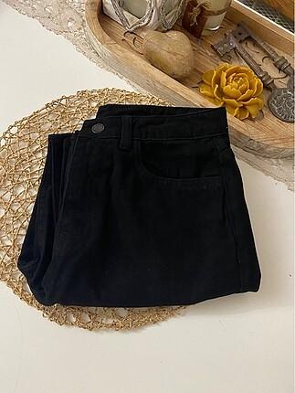 S/36 beden yüksek bel siyah kot pantolon