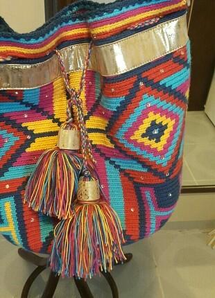 Kolombiya dan hand made Teiruma butik çanta