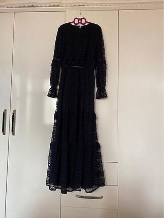 36 Beden lacivert Renk Lcw güpürlü elbise