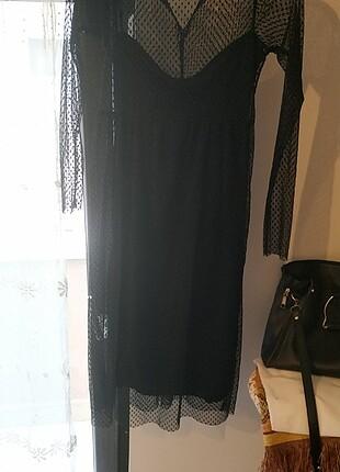 Siyah tül harika elbise