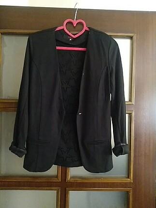 Siyah penye ceket