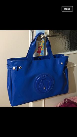 Armani orijinal mavi renk kusursuz çanta