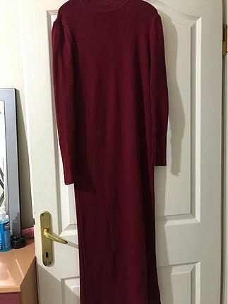 Bordo Uzun Elbise