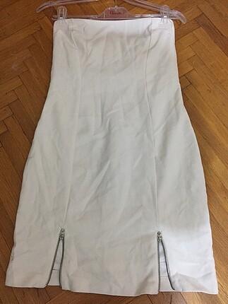 Zara straplez elbise