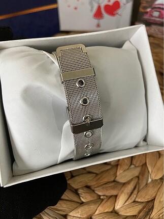 Beden beyaz Renk Ck hasır kol saati