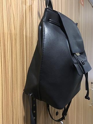 Zara Zara siyah deri sırt çantası