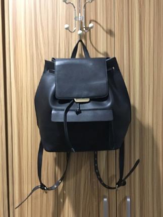 Zara siyah deri sırt çantası