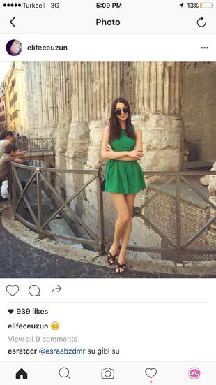 xs Beden yeşil Renk Topshop elbise