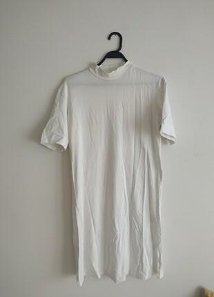 Beyaz basic tunik