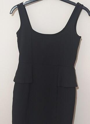 Warehouse Siyah askılı kısa elbise