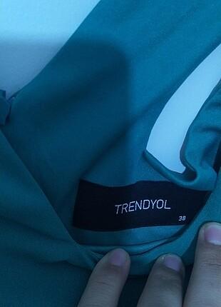 Trendyol yeşil uzun elbise