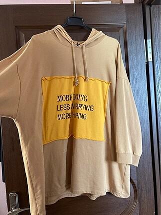 3xl-46 beden hardal defacto sweatshirt tunik