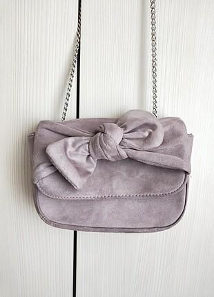 Lila süet çanta