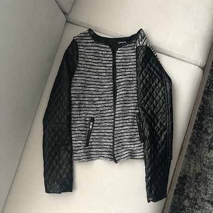 Diğer Gri deri ceket