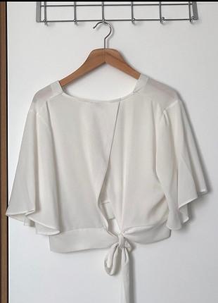 s Beden Beyaz bluz