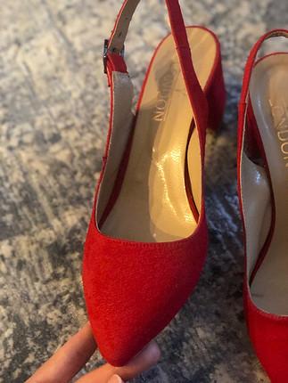 39 Beden Kırmızı topuklu ayakkabı