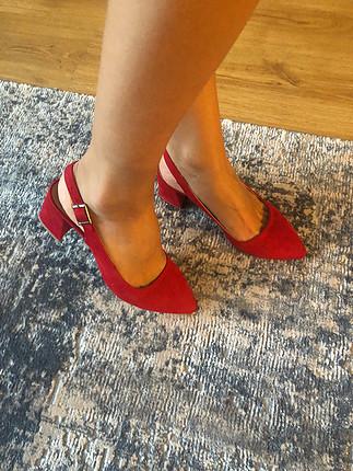39 Beden kırmızı Renk Kırmızı topuklu ayakkabı