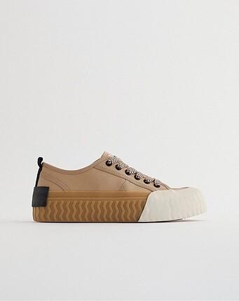 Zara Zara yanık renk ayakkabı