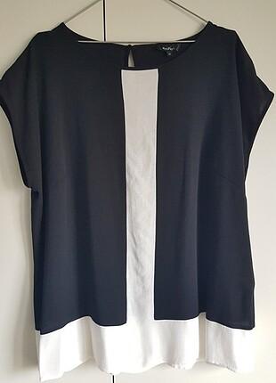 Naramaxx siyah beyaz ceket içine bluz