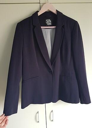 Lacivert blazer ceket çok şık