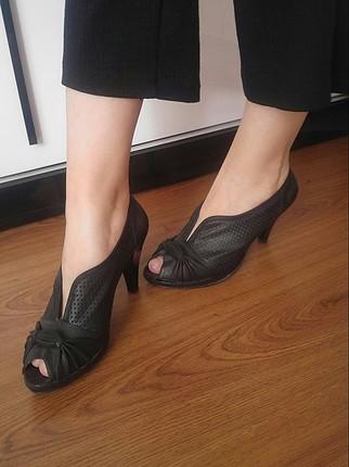 kısa topuk vintage ayakkabı