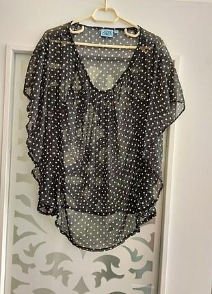 Puantiyeli bluz