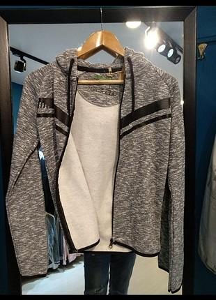 Sıfır sweat mont sweatshirt gri