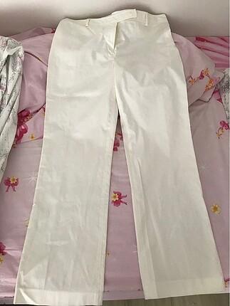 Krem renk kumaş pantolon