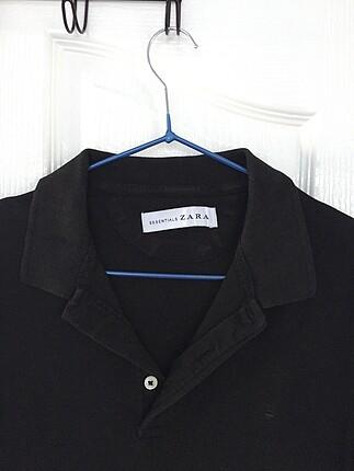 17-18 years Beden siyah Renk Orjinal ZARA polo tişört S beden