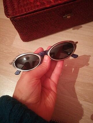 Lacivert simli cift katlı metal gözlük