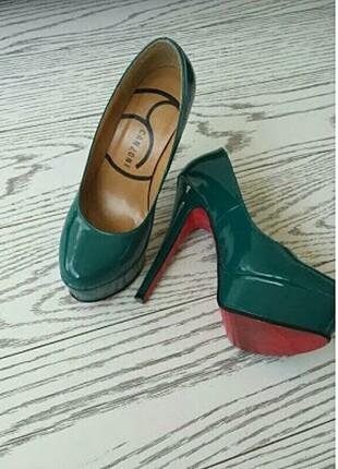 Canzone yeşil Platform ayakkabı