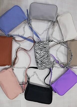 Bershka Baget çanta zincirli