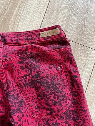 xs Beden Guess kırmızı pantolon