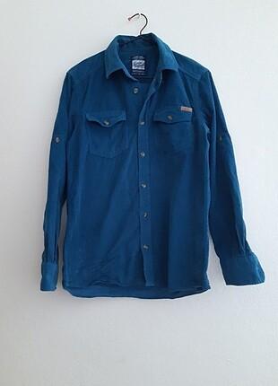 Lc waikiki erkek çocuk kadife uzun kollu gömlek