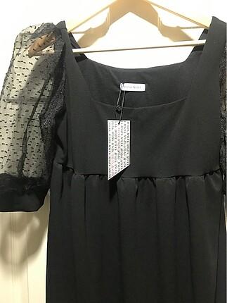 m Beden Siyah bol kesim elbise