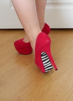 Fuşya Zebra Platform Ayakkabı