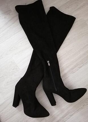 37 Beden siyah Renk Uzun çorap çizme