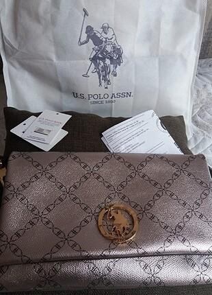 Beden camel Renk U.S. Polo kol çantası/pörtföy çanta