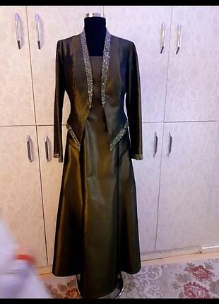 Çok kaliteli çok şık taşlı elbise