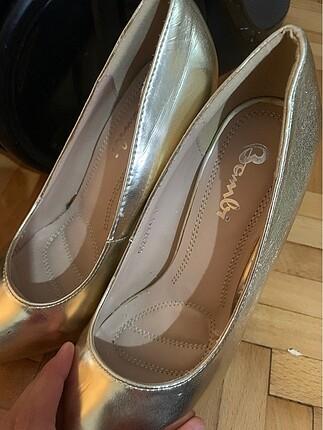 37 Beden altın Renk Topuklu ayakkabı